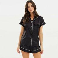 iç çamaşırı pijama satışı toptan satış-Yüksek Kalite 2019 Yeni Sıcak Satış Moda Kadınlar Saten Düz Pijama Babydoll Lingerie Gecelikler Rahat Şort Pjs Pijama Set