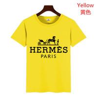 satış tasarımcısı giysileri toptan satış-19ss Gömlek Kısa Kollu t gömlek Baskılı Pamuk T-shirt Erkek Tasarımcılar Giyim Sıcak Satış Pamuk Yeni Erkek Yaz Tees Artı Boyutu S-XL