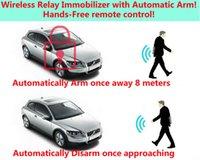 dispositivo antirrobo de alarma de coche al por mayor-upgarde alarma de coche Automóviles seguridad del ladrón Sistemas de parada del motor mientras que el dispositivo leavy distancia 8m inmovilizador antirrobo RFID