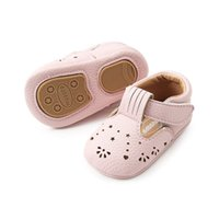 Wholesale baby pink cute sandals resale online - ins summer girls hole pu walking shoes with headband baby Fretwork sandals walking shoes infant crown headband pink white colors cute