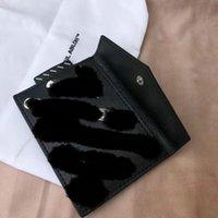 vintage binder großhandel-19ss Marke Karte Paket ausschalten schwarz-weiß gestreifte Tasche Geldbörse Clip Tasche Binder lässig Hip Hop Mode Brieftasche