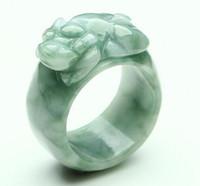myanmar natural jade al por mayor-Jade artesanía jade de Myanmar un anillo de suerte poco profundo jade natural al por mayor