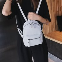 Wholesale small white korean backpacks for sale - Group buy 2020 new fashion shoulder bag ladies small backpack Korean casual outdoor shopping bag women