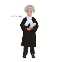 ingrosso abito avvocato-Bambini Avvocato del costume di Cosplay dei capretti delle ragazze dei ragazzi Judage Stage Performance costume di Halloween per i bambini Masquerade Party Dress Decor