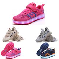 Neue Ankunfts Laufschuhe für Jungen und Mädchen weiß, rosa, schwarz, blau, orange Art und Weise Jungen Mädchen Schuhe sports Turnschuhe Led 46