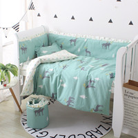Wholesale baby bedding set pcs crib for sale - Group buy 4 set Cute Baby Bedding Set Cotton Baby Bedding Set Including Bumpers Soft Bumper For Cot Crib Bumpers Four Seasons
