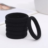 Wholesale seamless elastic band for sale - Group buy Women Hair Accessories Black Hair Ring Styling Braider Styling Tool Basic Seamless Ultra High Elastic Rubber Band