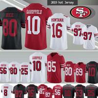 montana jerseys venda por atacado-10 Camisa 49er 85 jerseys George Kittle 97 Nick Bosa 80 Jerry Rice Montana McGlinchey Bowman Foster Jimmy Garoppolo San Francisco
