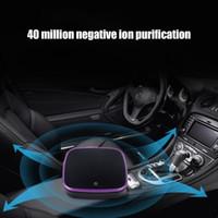 hava cihazları toptan satış-Filtre Spreyi Temizleyici ile araba Hava Temizleyici Negatif Iyonlaştırıcı USB Formaldehit Bakteriler Koku Arındırıcı Cihaz ...