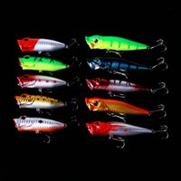 Wholesale top water fishing baits resale online - 10pcs top water Fishing Lure Set Models Mixed Minnow popper Lure Crank Bait Fishing Tackle Bass Baits