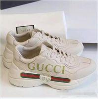 mens niedrige wanderschuhe großhandel-Fashion Designer Herren Wanderschuhe G Sport Run Schuhe Für Männer Frauen Low Cut Casual Wanderschuhe G Unisex Zapatillas Rhyton Turnschuhe 36-44