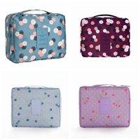 çoklu cep kozmetik çantası toptan satış-Çok fonksiyonlu Su Geçirmez Kozmetik Makyaj Çantası Kolu Ile Rahat Iç Cep Saklama Çantası Seyahat Tuvalet Çantası RRA1067