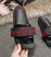 siyah kumaş sandaletler toptan satış-2019 erkek ve bayan moda siyah yay ile SATEN slayt sandalet deri döşeme açık plaj kauçuk flop floplar boyutu euro 35-45