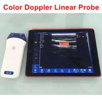 máquinas lineales al por mayor-7.5-10Mhz128elements Wifi Linear Probe con color Doppler, ultrasonido inalámbrico, ultrasonido lineal sonda, dispositivo de eco, sonda usg máquina