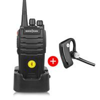 uhf module venda por atacado-Bluetooth Walkie Talkie 5 W UHF 400-480 MHz módulo Bluetooth Embutido Portátil em dois sentidos rádio com fone de ouvido Sem Fio 16CH