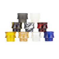 Wholesale honeycomb materials resale online - USA Popular Honeycomb Style Drip Tips Epoxy Resin With Stainless Steel Material Pretty Pattern Vape E Cigarette Ego Threading Mouthpiece