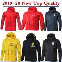 casacos de inverno longos para homens venda por atacado-2019 2020 Ajax Futebol zipper blusão leito casaco de manga longa 19 20 Bayern esporte de inverno MAN futebol do hoodie