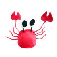 trajes de lagosta venda por atacado-Natal Vermelho Lagosta Caranguejo Chapéu Animal Marinho Halloween Costume Fancy Party Adulto Crianças Cap 7 pçs / lote