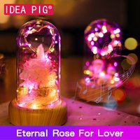 Wholesale pink rose gift resale online - Real Eternal Forever Rose Non Artificial Flower Festive Preserved Non Fake Flower Gift for Lover Home Decoration Accessories SH190920