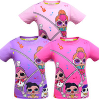 Wholesale wearing girls cartoon for sale - Group buy T shirt D color Printing New Cartoon Girls Short sleeve T shirt Summer Breathable children s wear Kids Children Outwear Top Clothing