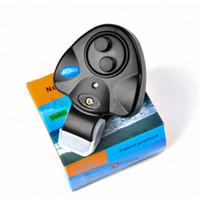 stabfischalarm großhandel-Angeln Elektronische LED-Licht Fisch Biss Sound Alarm Glocke Clip On Angelrute Black Tackle Angelzubehör Toy Supply Box Pack