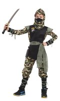 Wholesale ninja decorations resale online - Shanghai Story Halloween Cosplay Costume Martial Boys Arts Mystery ninja Costumes for kids Fancy Party decorations supplies