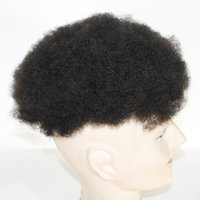 3.5 verschluss großhandel-Insgesamt 3 Stück Customed One Piece Afro Curl Herren Toupet und 2 Stück 3,5 * 4 Schnürverschluss