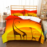 Wholesale jacquard print bedding set resale online - 3D Print Bedding sets Duvet Cover unicorn Picture Four Seasons one bed cover and two Pillowcase Queen King size