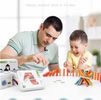 boya çubukları toptan satış-İnşaat set Mozaik Domino yarışı İplik Eğitim İstihbarat K Boyama Ahşap Oyuncak Yapı Taşları Bulmaca Küp Pick-up Sticks Tops