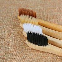 carvão de madeira venda por atacado-1 PC Pessoal de Bambu Ambiental Carvão Vegetal Escova De Dentes Para A Saúde Oral De Madeira De Baixo Carbono Macio Cerda Macia Lidar Com Escova De Dentes C18112601