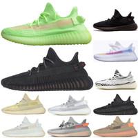 zapatos para correr que brillan intensamente al por mayor-Negro estático reflectante Antlia Arcilla Forma verdadera Criado Hiperespacial Kanye West Cebra Resplandor en la oscuridad Hombres Mujeres Zapatillas de deporte Zapatos para correr Size36-48