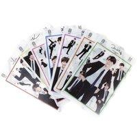 neues modejunge foto großhandel-7pcs / set K-pop BTS Bangtan Jungen Transparente Foto Karten Neue Mode PVC Foto Lomo Karten