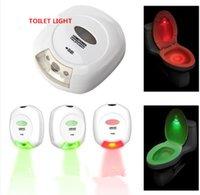 preço do sensor de luz venda por atacado-O mais baixo Preço ABS Sensor de Movimento LED Ativado Higiênico Banheiro Luz Lavar O Banheiro Lâmpada 2AA Bateria-Operado Luz Da Noite