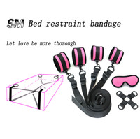 Wholesale pink adult bedding resale online - Under Bed BDSM Bondage Restraint System Sex Toys for Couples PU leather handcuffs Ankle cuffs Sex Products Fetish Adult Games