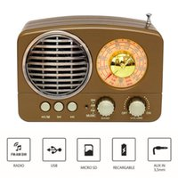 Wholesale M BT Durable Gift USB Rechargeable Mini Radio Retro Bluetooth Speaker Multifunction AM FM SW TF Card Slot Portable Home ABS