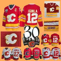 Wholesale jarome iginla hockey jerseys for sale - Jarome Iginla Jersey th  Ice Hockey Calgary Flames c97163e39