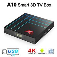 neueste tv-box großhandel-Neueste Set-Top-Box Android 9.0 TV-Box RK3318 Quad Core 2G 16G 2,4G Wifi TVbox 3D 4K Streaming Media Player 2 GB 16 GB mit USB 3.0 A10-Boxen