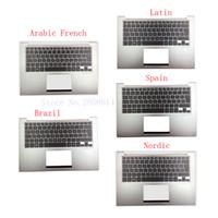 capas para computadores portáteis asus venda por atacado-Espanhol / latino / brasil / nórdico / árabe francês teclado do laptop para ASUS UX32 UX32A UX32E UX32V BX32 UX32VD backlight Palmrest Cover