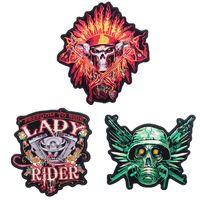 patchs de vêtements à vendre achat en gros de-Punk vélo broderie grand patch arrière vêtements de qualité des correctifs de fer à coudre sur les jeans veste nouvelle vente chaude bricolage vêtements accessoires