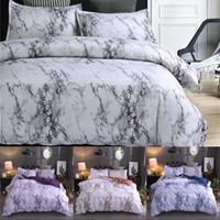 zwillingsbettwäsche großhandel-Marble Pattern Bettwäsche-Sets Polyester Bettwäsche Bezug-Set 2 / 3pcs Twin Queen Doppelbettbezug Bettwäsche (Kein Blatt Nr Filling)