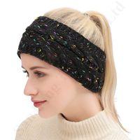 Wholesale knitting crochet hair band resale online - Women Head Wraps Knitted headband Brand Crochet Twist Stretchy Hair Band Women Winter Sports Hairband Turband Warm Ear Muffs Headwrap C92407