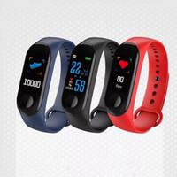 reloj smart оптовых-M3 Smart Band браслет сердечного ритма часы активности фитнес-трекер pulseira Relógios reloj inteligente PK fitbit XIAOMI apple watch