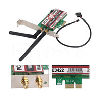 Wholesale wifi express adapter resale online - HIYAZONE Network Card Bluetooth Dual Band G G Mbps PCI E PCI Express WAE3422 Network Card Wlan WiFi Adapter