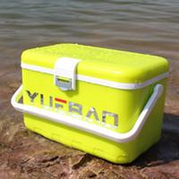 caixa de peixe do carro venda por atacado-Pesca ao ar livre caixa de equipamento de isolamento Box Outdoor Car refrigerador do gelo Organizador de Preservação