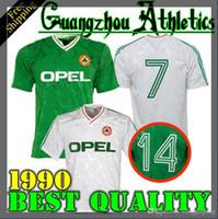 irland-fußball-trikot xl großhandel-1990 1992 Irland Retro Fußball Trikot 1990 Weltmeisterschaft Irland Heimtrikot Vintage Irish Sheedy Größe S-XXL Fußballshirts