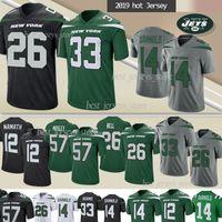 anti glocke großhandel-33 Jamal Adams 26 Le'Veon Bell New Jersey Yorker Jet 57 MOSLEY 14 Sam Darnold 12 Joe Namath Fußballjerseys 2019