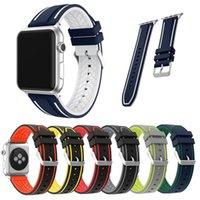 armband silikon armband sport großhandel-Sport Silikonkautschukband für Apple Watch Band Metallschnalle Armband für iWatch Series4 3 2 1 Ersatz-Armband