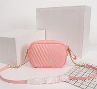 Wholesale square cameras resale online - Luxury Classic Wave Pattern Camera Bag Chain Square Handbags Purse Women Shoulder Bags Designer Small Bag Messenger Bag Crossboy bags