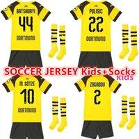 2019 20 Dortmund REUS soccer jersey kids Kits+Socks BVB GUNDOGAN YARMOLENKO  M.GOTZE REUS PULISIC 18 19 Borussia Dortmund football shirt 5f88987a0