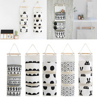 Wholesale 3 Pockets New Fashion Door Wall Hanging Storage Pouch Bag Home Closet Sundries Organizer